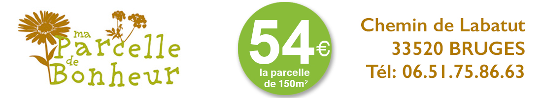 Venez cultiver votre parcelle de jardin près de Bordeaux